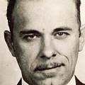 John Dillinger Mug Shot Sepia by Tony Rubino