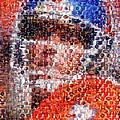 John Elway Mosaic by Paul Van Scott