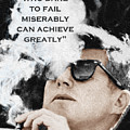 John F Kennedy Cigar And Sunglasses 3 And Quote by Tony Rubino
