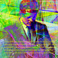 John Fitzgerald Kennedy Jfk In Abstract 20130610v2 Square Text by Wingsdomain Art and Photography