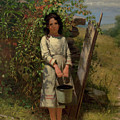 John George Brown Blackberry Picking 1875 by Movie Poster Prints