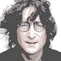 John Lennon - Parallel Hatching by Samuel Majcen
