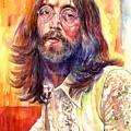 John Lennon Watercolor by Suzann Sines