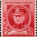 John Philip Sousa Postage Stamp by James Hill