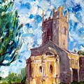 John Piper's Jewel - Sunningwell Church by Chris Irwin Walker