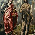John The Baptist And Saint John The Evangelist by El Greco