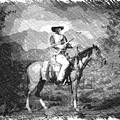 John Wayne At The Ready On Horseback Pa 01 by Thomas Woolworth