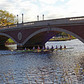John Weeks Bridge Harvard Square Chales River Sunset Rowers by Toby McGuire