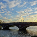 John Weeks Bridge Harvard Square Chales River Sunset by Toby McGuire