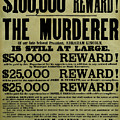 John Wilkes Booth Wanted Poster by War Is Hell Store