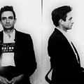 Johnny Cash Mug Shot Horizontal by Tony Rubino