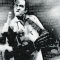 Johnny Cash Rebel Vertical by Tony Rubino
