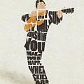 Johnny Cash Typography Art by Inspirowl Design