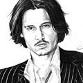 Johnny Depp Portrait by Alban Dizdari