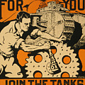 Join The Tanks by Vintage Pix