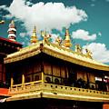 Jokhang Temple Fragment  Lhasa Tibet Artmif.lv by Raimond Klavins
