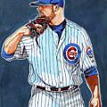 Jon Lester Chicago Cubs by Dave Olsen