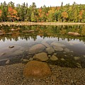 Jordan Pond Fall Reflection by Paul Schultz