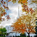 Jordan River Temple by La Rae  Roberts