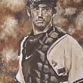 Jorge Posada New York Yankees by Eric Dee