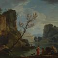 Joseph Vernet   A River With Fishermen by PixBreak Art