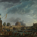 Joseph Vernet   A Sporting Contest On The Tiber At Rome by PixBreak Art