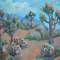 Joshua Trees And Cholla Cactus by Diane McClary