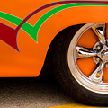 Joy Ride - Street Rod In Orange, Red, And Green by Mitch Spence