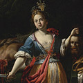 Judith With The Head Of Holofernes 2 by Giovanni Francesco Guerrieri