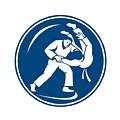Judo Combatants Throw Circle Icon by Aloysius Patrimonio