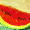Juicy Watermelon - Kitchen Decor Modern Art by Patricia Awapara