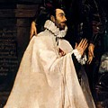 Julian Romero De Las Azanas And His Patron St Julian by El Greco