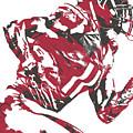 Julio Jones Atlanta Falcons Pixel Art 11 by Joe Hamilton