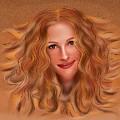 Julorobani - Julia Roberts Portrait by Cersatti