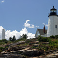 July 2005 At Pemaquid Point Light by Carl Jackson