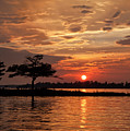 July Summer Sunset At Detroit Point by Ron Wiltse