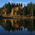 Jumbo Lake In The Fall by Kenton Shaw