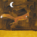 Jumping Fox And The Moon by Sophy White