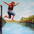 Jumping In The Waccamaw River by Phil Burton