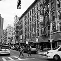 junction of bayard street and mulberry street chinatown New York City USA by Joe Fox