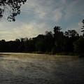 June Mississippi River Misty Dawn by Kent Lorentzen