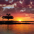 June Sunset At Detroit Point by Ron Wiltse
