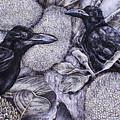 Jungle Crows On Jackfruit by Trish Taylor Ponappa