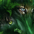 Jungle Eyes - Panther And Ocelot  by Carol Cavalaris