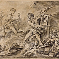 Juno Asking Aeolus To Release The Winds by Francois Boucher