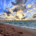 Juno Beach Pier Florida Sunrise Seascape D7 3 by Ricardos Creations