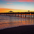 Juno Pier Colorful Sunrise Panoramic by Ken Figurski