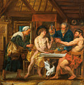Jupiter And Mercury In The House Of Philemon And Baucis by Jacob Jordaens
