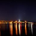 Jupiter Florida  Inlet Lighthouse At Night by Alex Grichenko