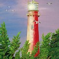 Jupiter Lighthouse - Sunburst by Esther Gordon